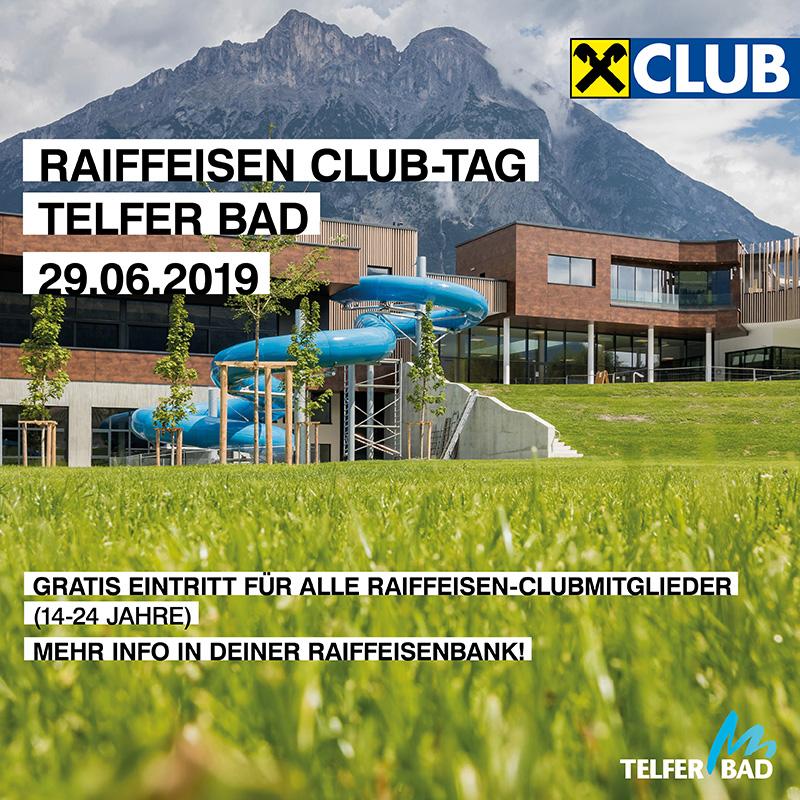 """Plakat für das Event """"Raiffeisen Club Tag"""""""