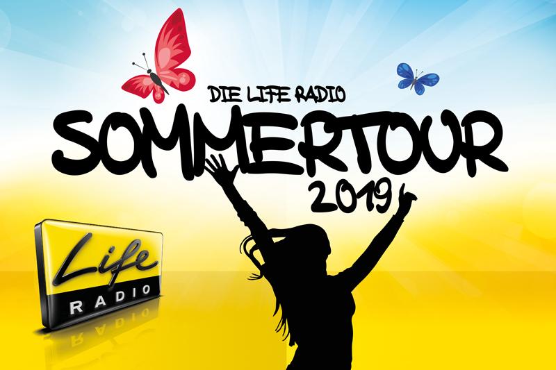 """Plakat für das Event """"Liferadio Sommertour"""""""
