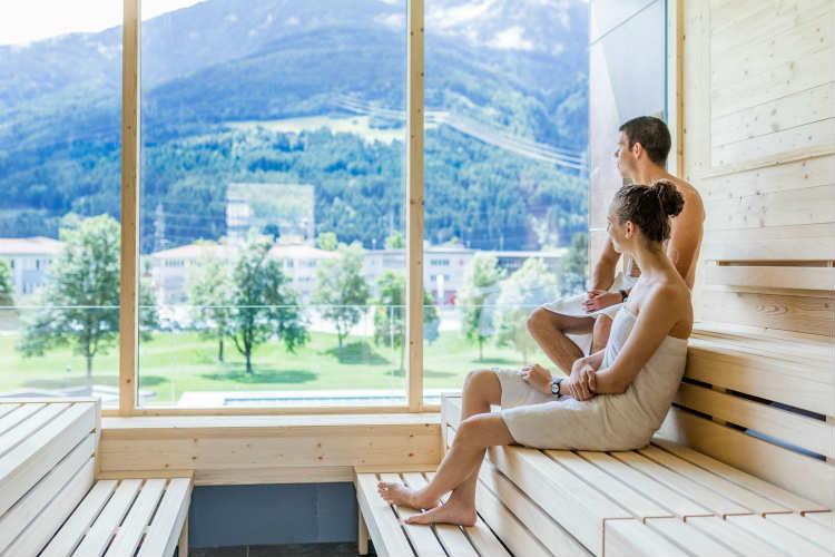 Aussicht aus der Sauna