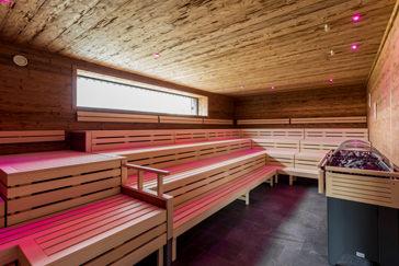 Innenaufnahme Sauna